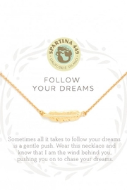 Spartina 449 Feather Necklace - Front cropped