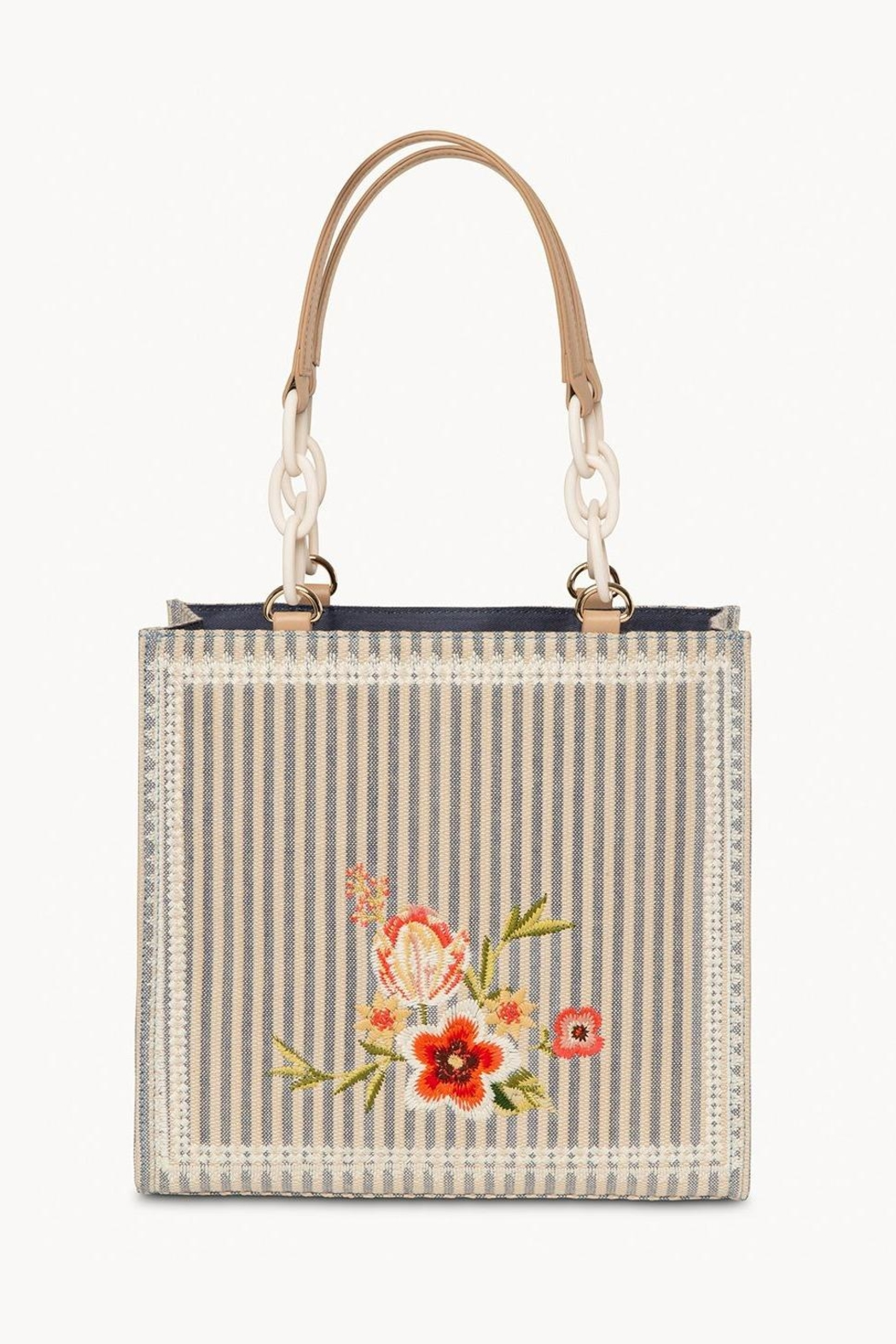 Spartina 449 Fleur-De-Vigne Box Tote - Side Cropped Image