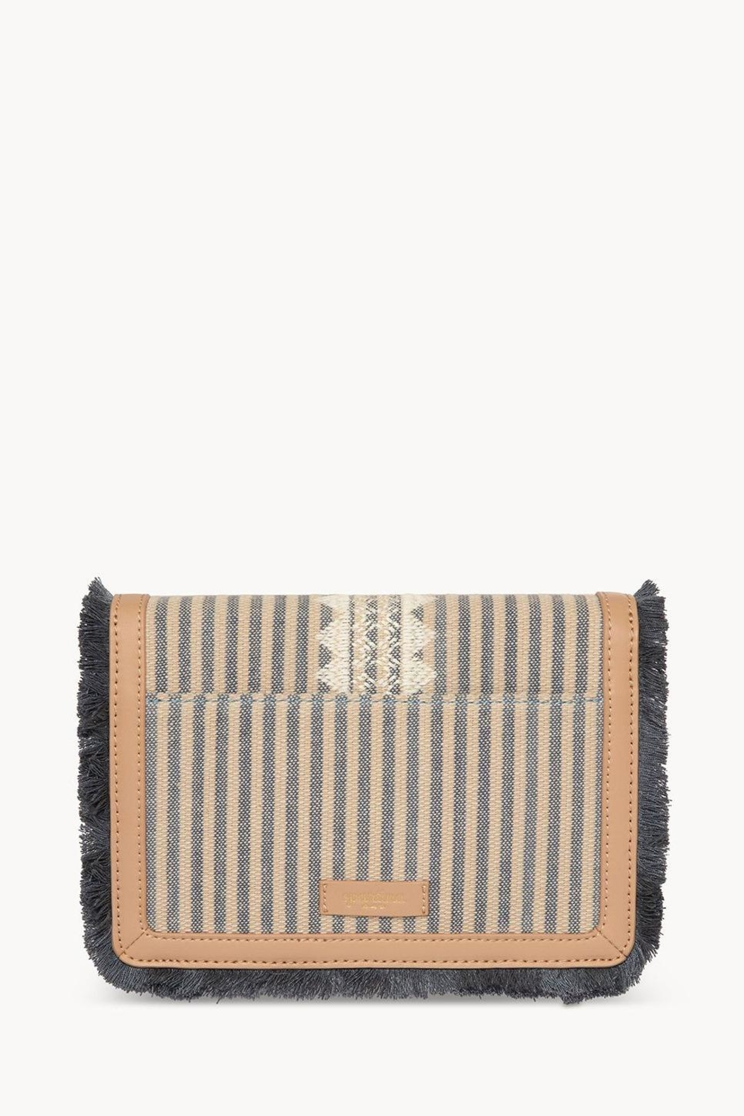 Spartina 449 Fleur-De-Vigne Clutch Crossbody - Side Cropped Image