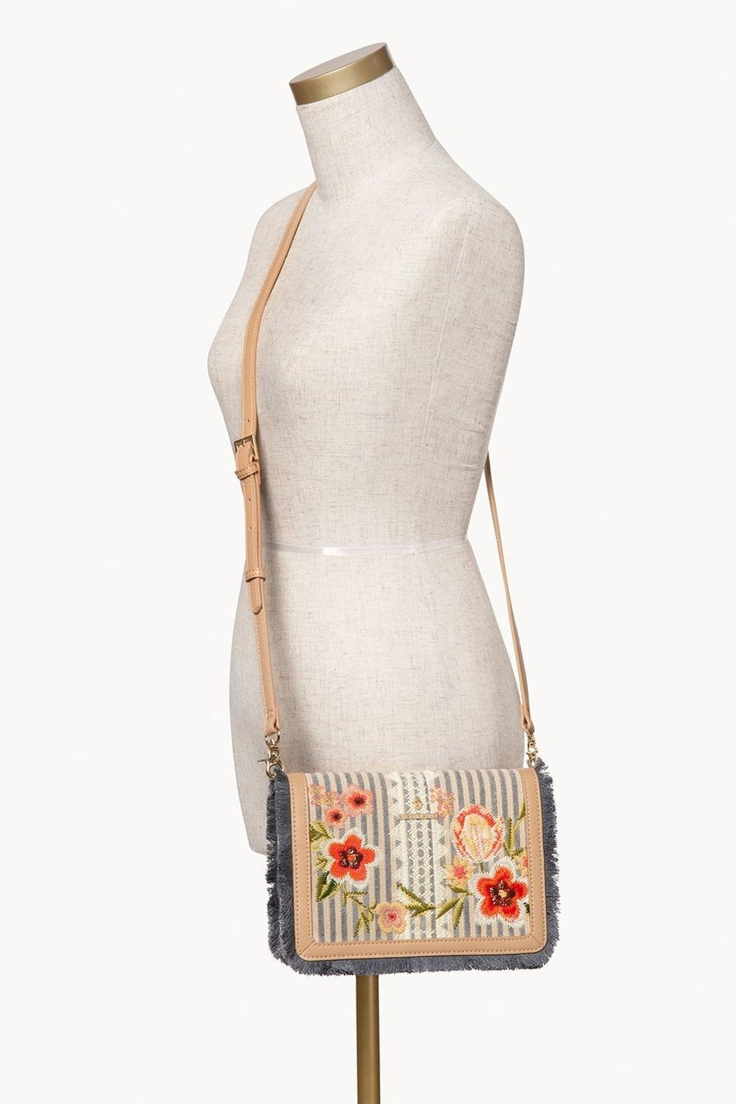 Spartina 449 Fleur-De-Vigne Clutch Crossbody - Back Cropped Image