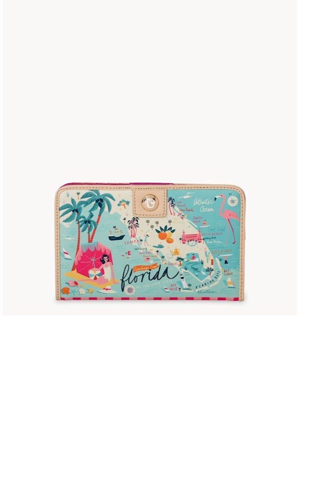 Spartina 449 Florida Snap Wallet - Front Cropped Image
