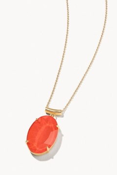Shoptiques Product: Mermaid Glass Oval Slide Necklace