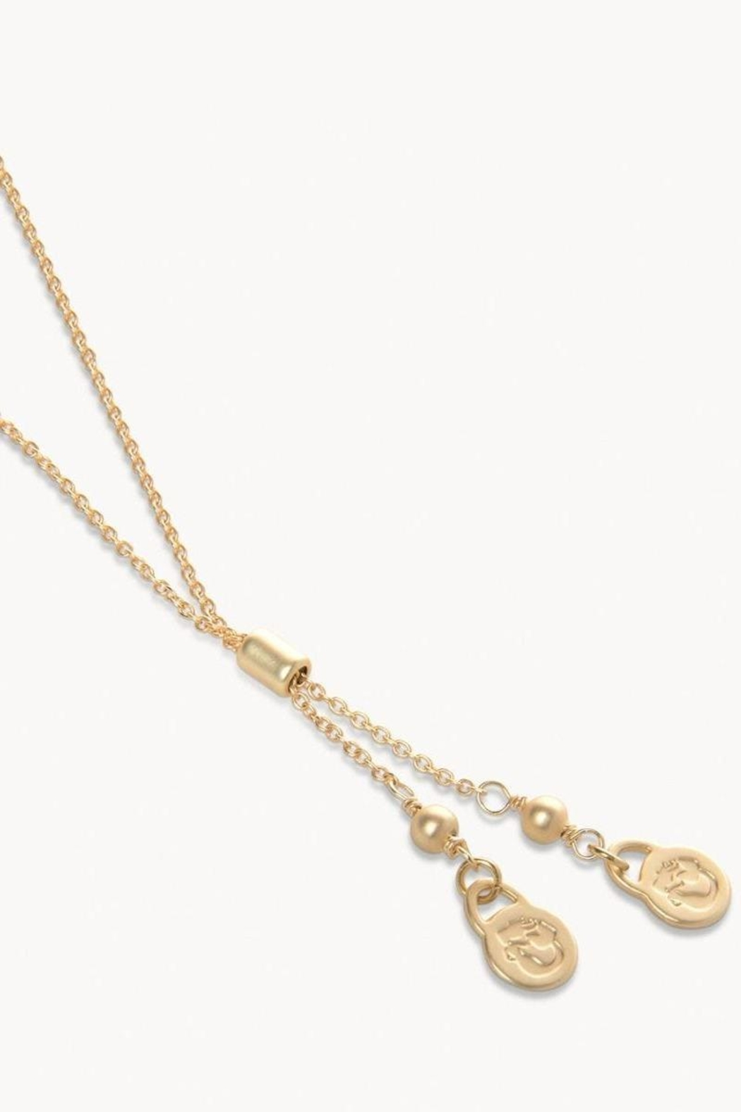 Spartina 449 Mermaid Glass Oval Slide Necklace - Front Full Image