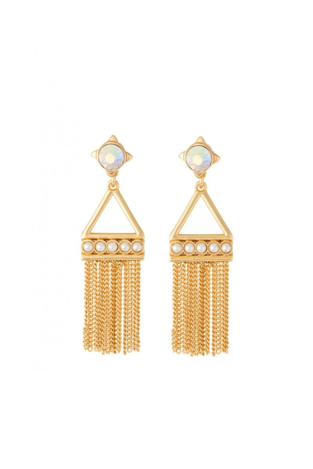 Spartina 449 Mod-Pearl Tassel Earrings - Front Cropped Image