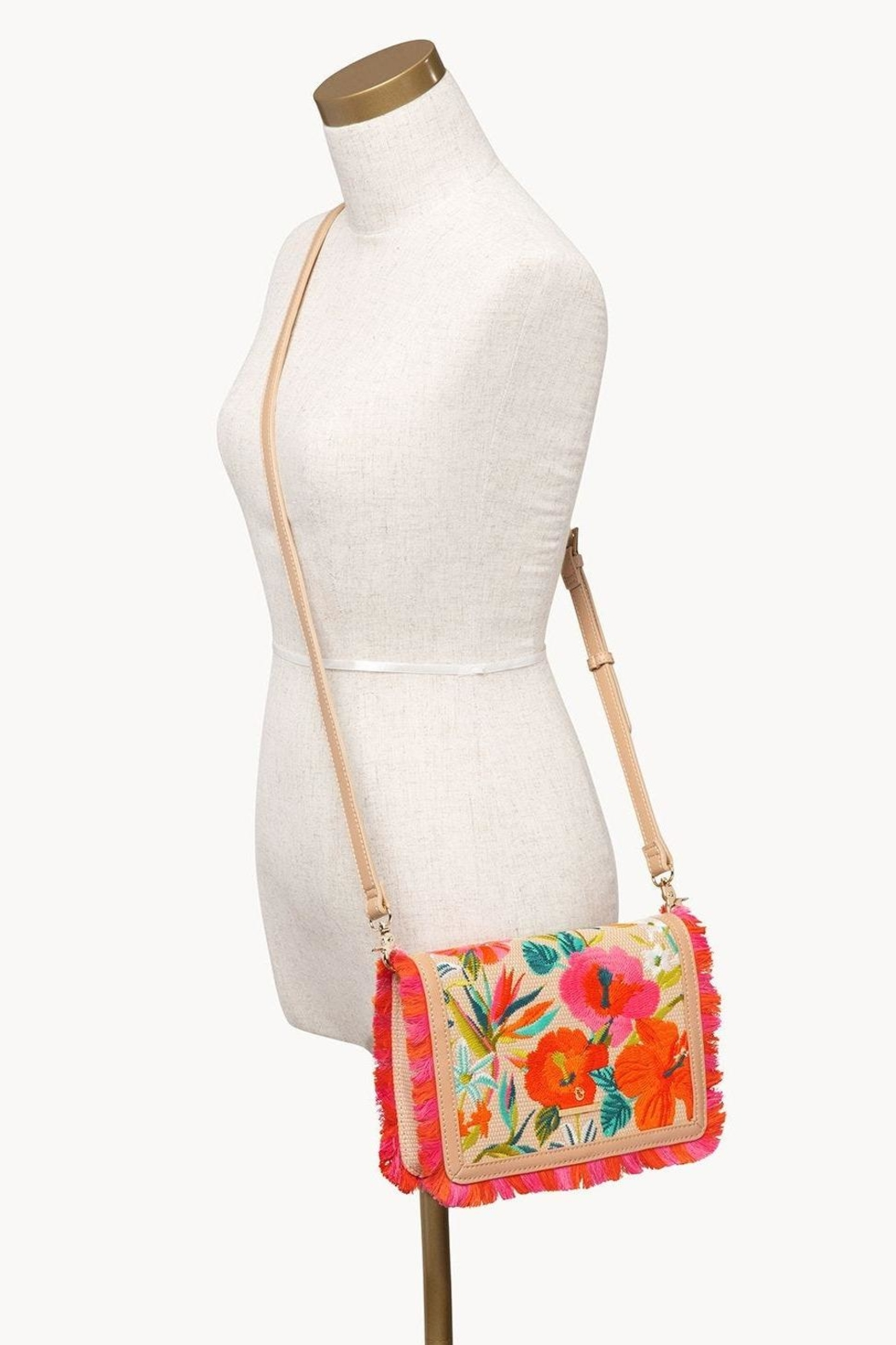 Spartina 449 Moreland Embroidered Crossbody - Back Cropped Image