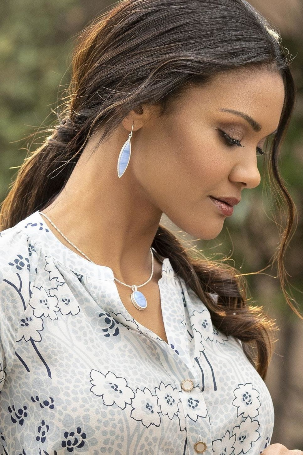 Spartina 449 Naia Oval Necklace - Front Full Image