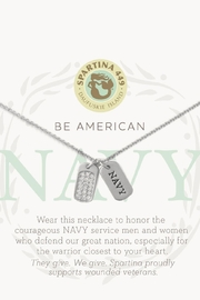 Spartina 449 Navy Necklace - Front full body