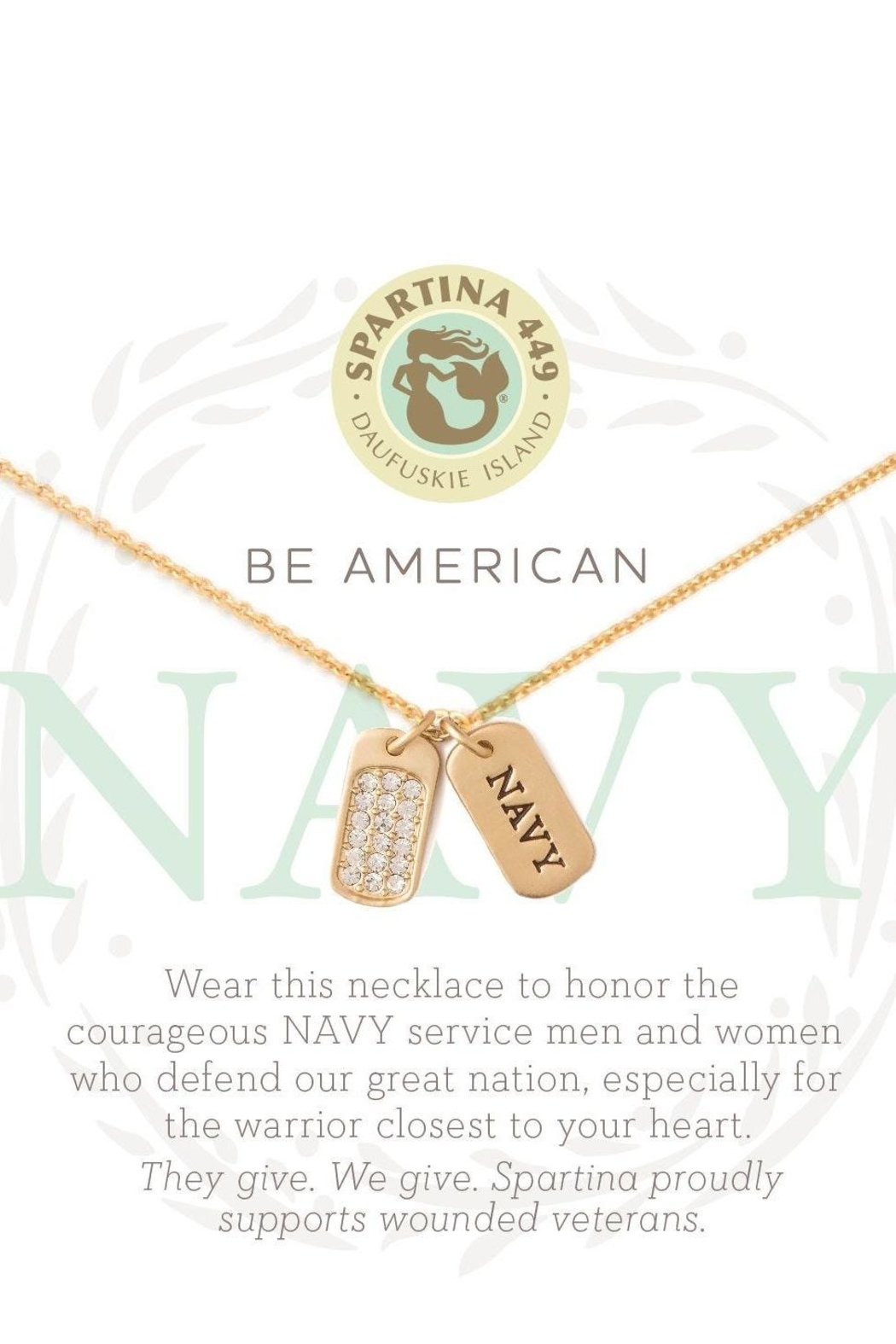 Spartina 449 Navy Necklace - Front Full Image