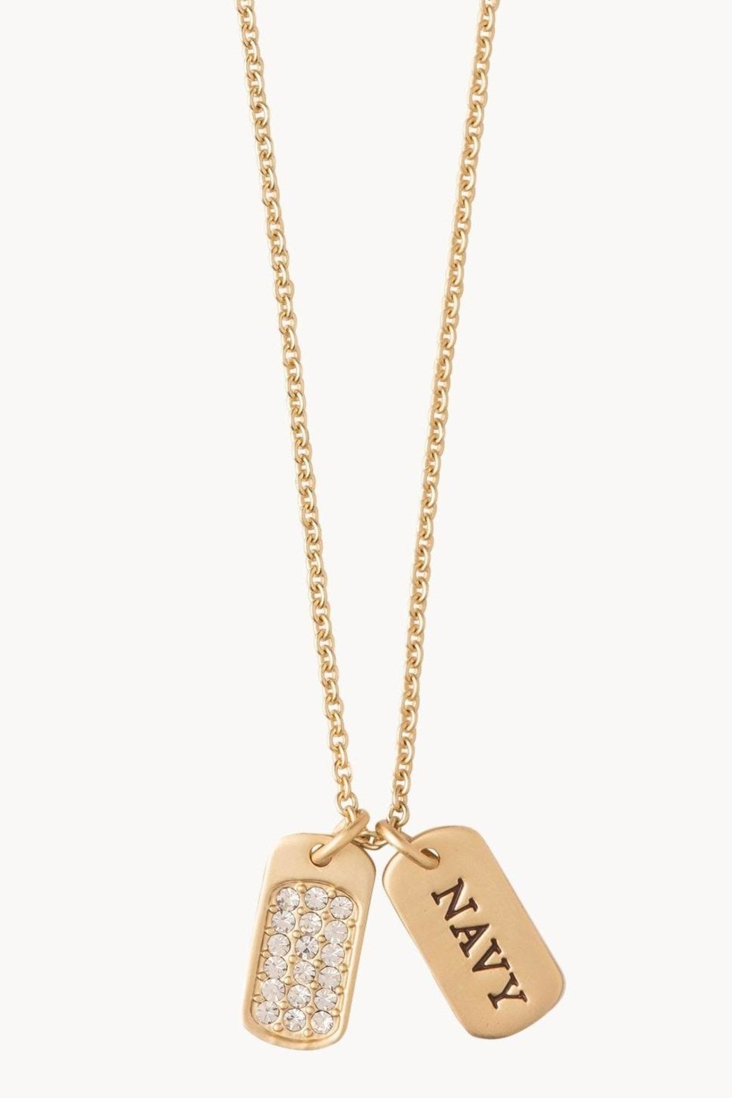 Spartina 449 Navy Necklace - Front Cropped Image