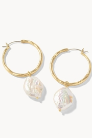 Spartina 449 Pearl Hoop Earrings - Product Mini Image