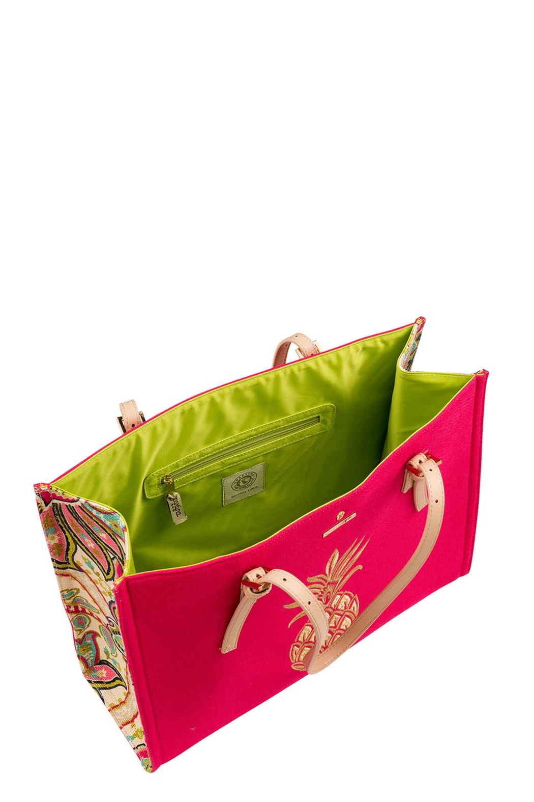 Spartina 449 Pineapple Sand Tote Bag - Front Full Image