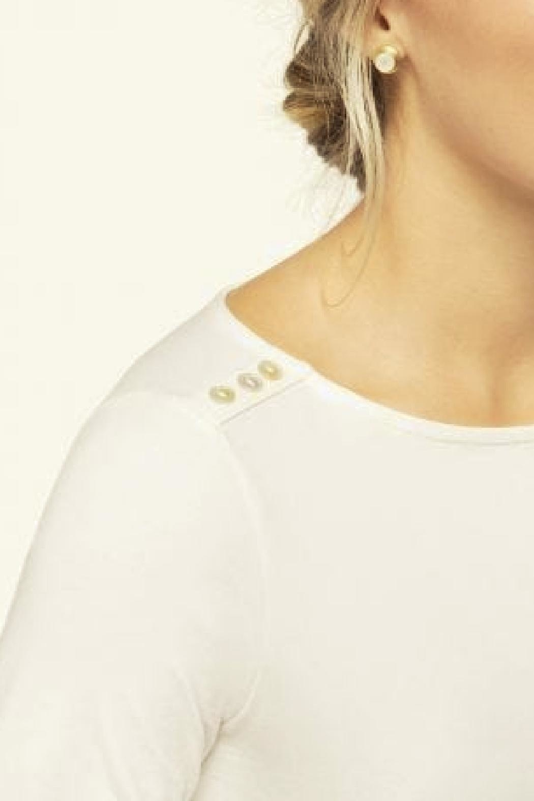 Spartina 449 Ray Boatneck Tee - Front Full Image