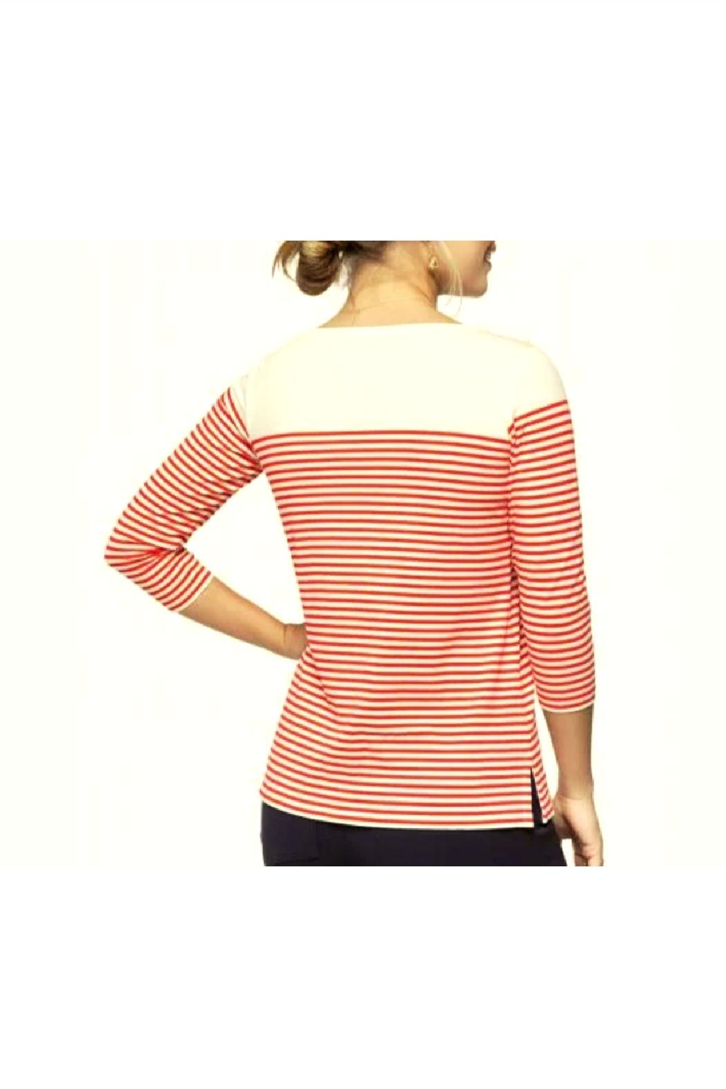 Spartina 449 Ray Stripe Tee - Front Full Image