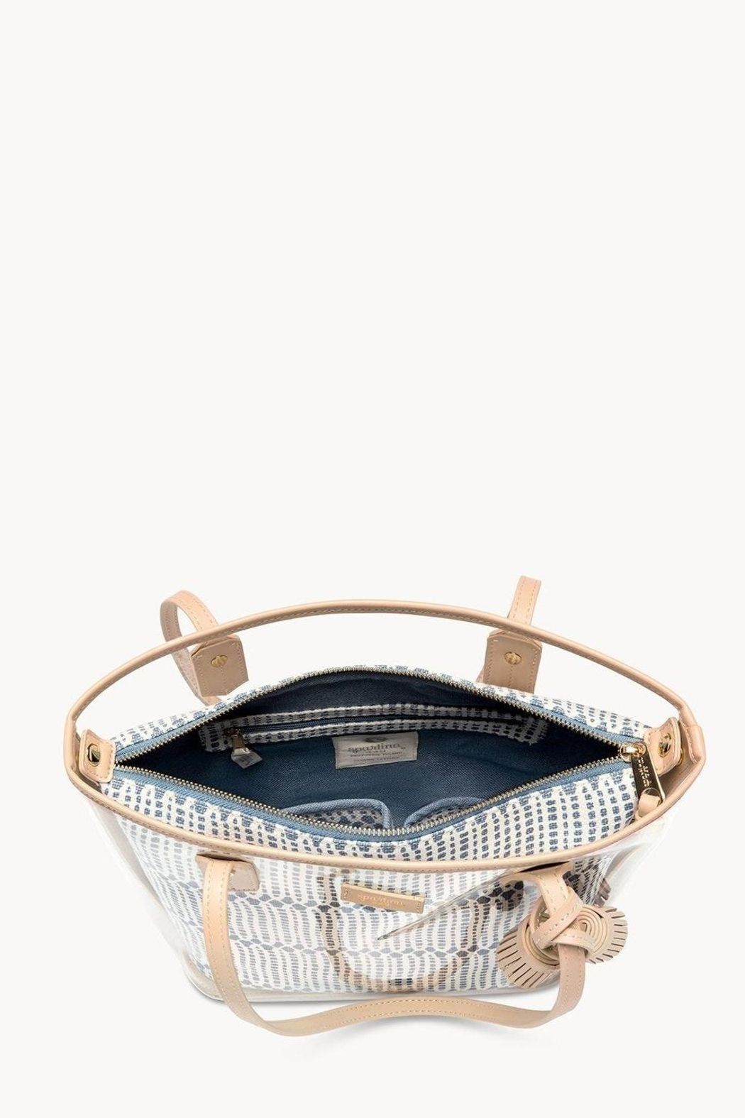 Spartina 449 Songbird Clear Tote - Front Full Image