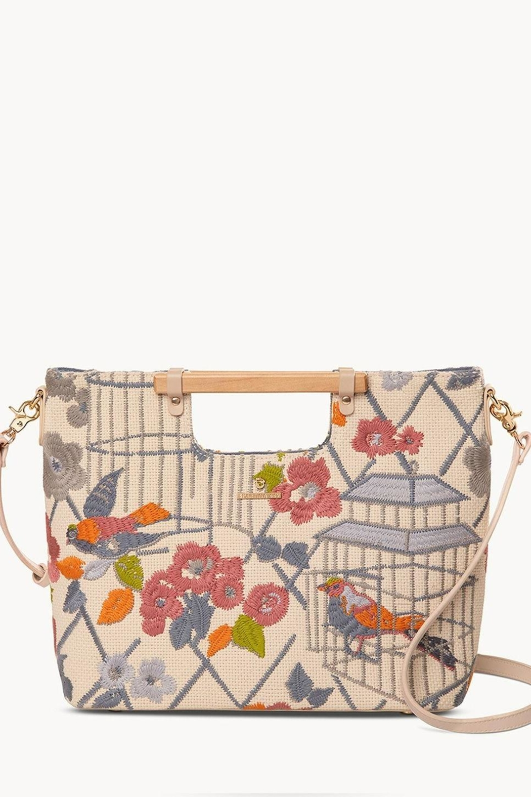 Spartina 449 Songbird Embroidered Tote - Main Image