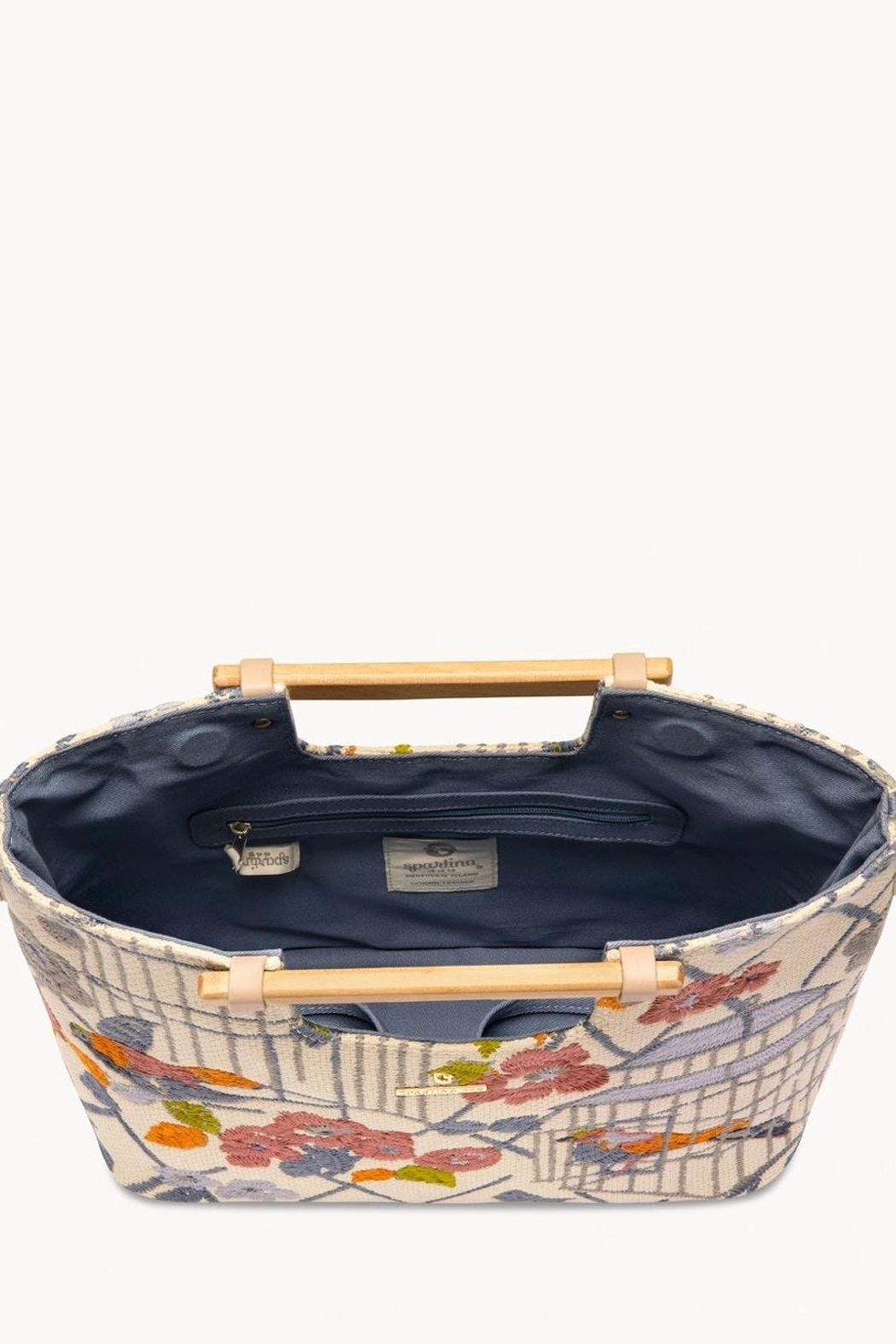 Spartina 449 Songbird Embroidered Tote - Front Full Image