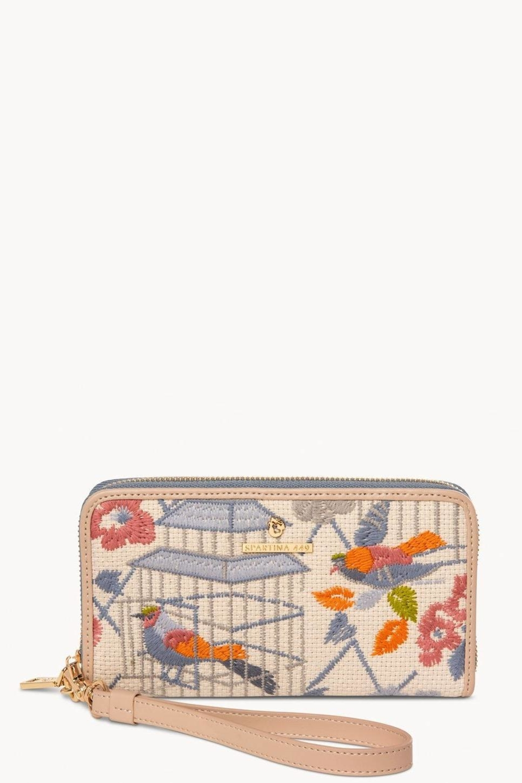 Spartina 449 Songbird Embroidered Wallet - Main Image