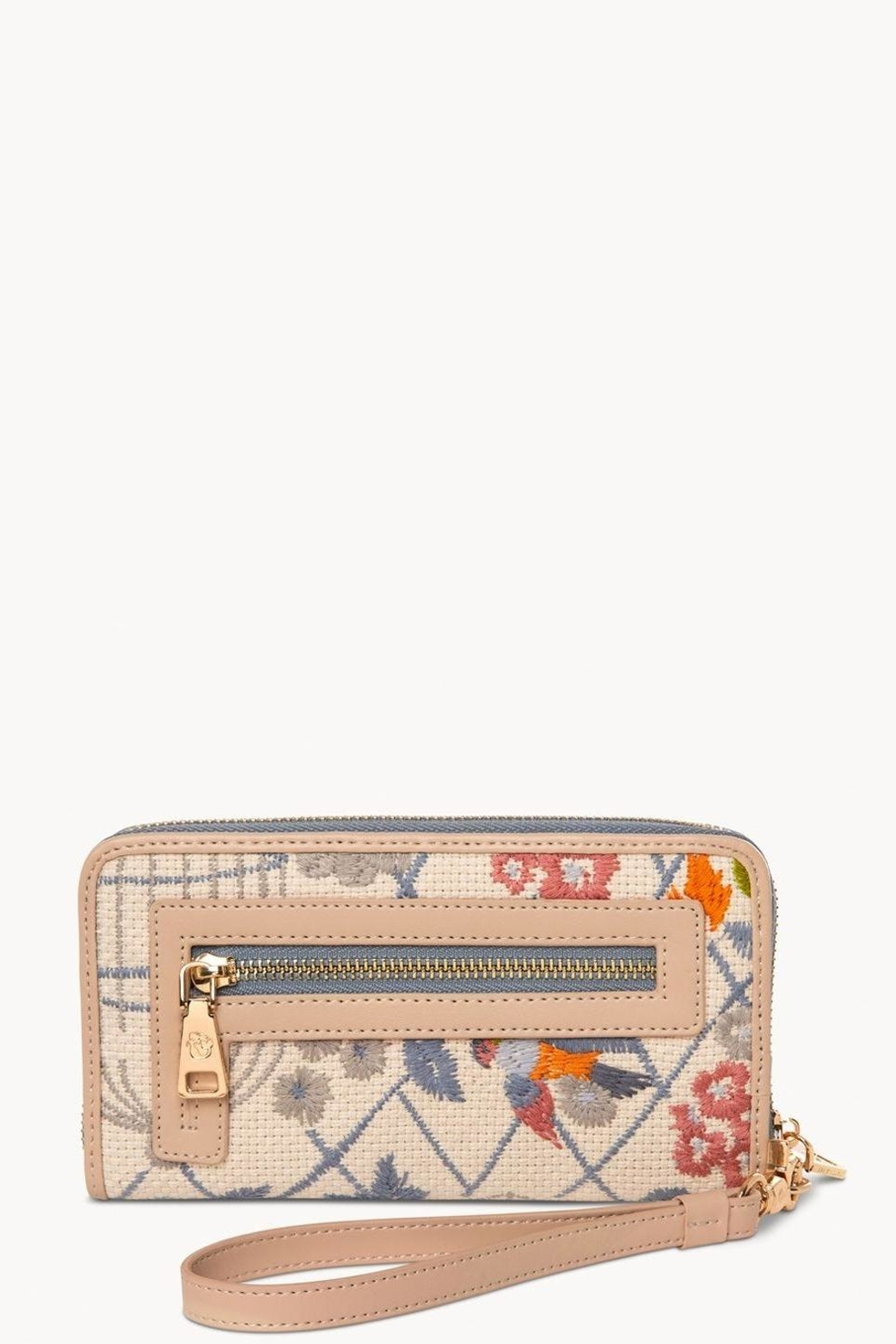 Spartina 449 Songbird Embroidered Wallet - Side Cropped Image