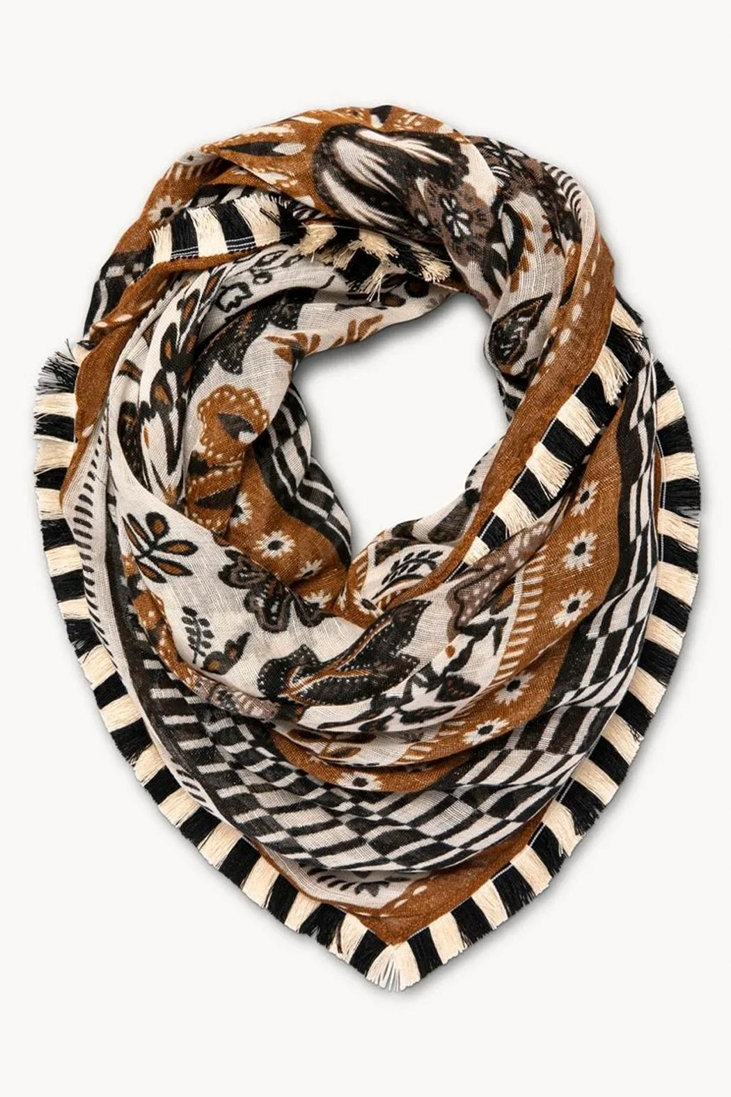 Spartina 449 West Bluff Floral Square Scarf - Front Cropped Image