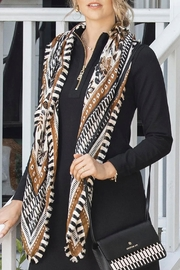 Spartina 449 West Bluff Floral Square Scarf - Back cropped