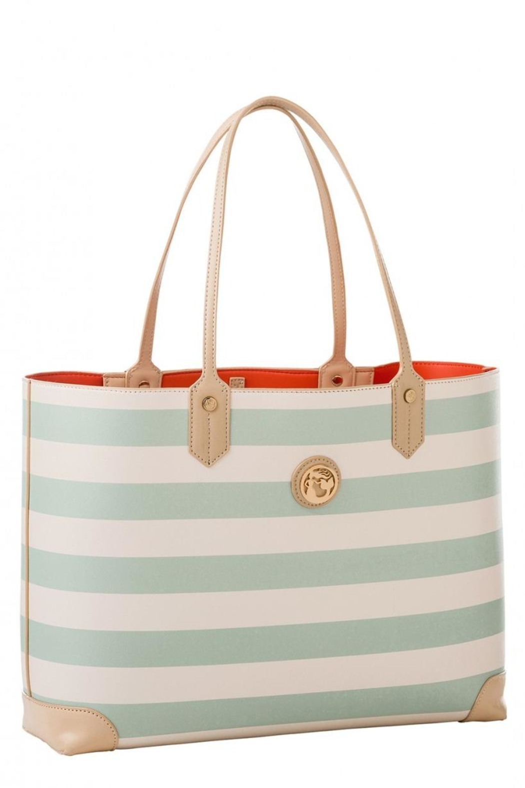 Spartina 449 Striped Tote Bag - Front Full Image