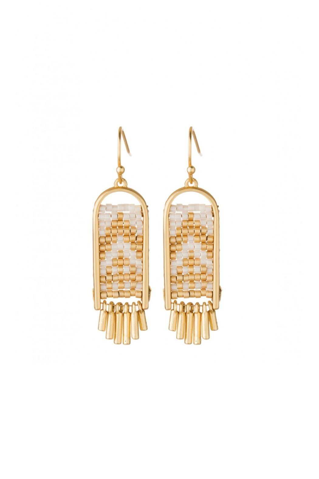 Spartina 449 Wooven Beaded Earrings - Main Image