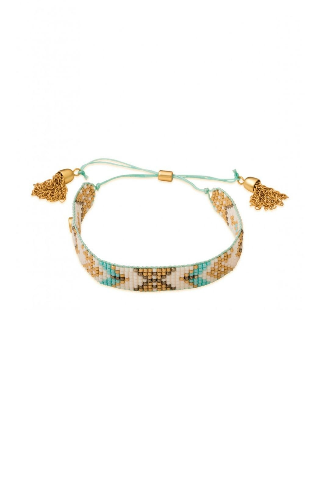 Spartina 449 Woven Beaded Bracelet Front Cropped Image