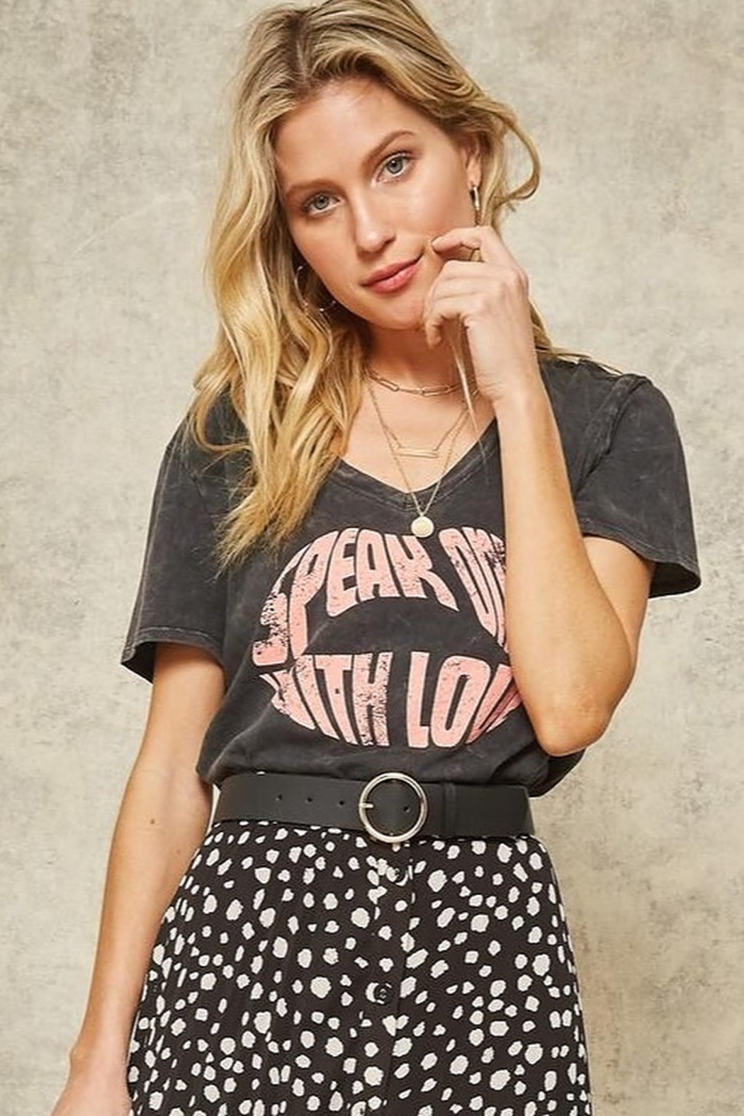 CRIV Speak Love Graphic Tee - Front Cropped Image