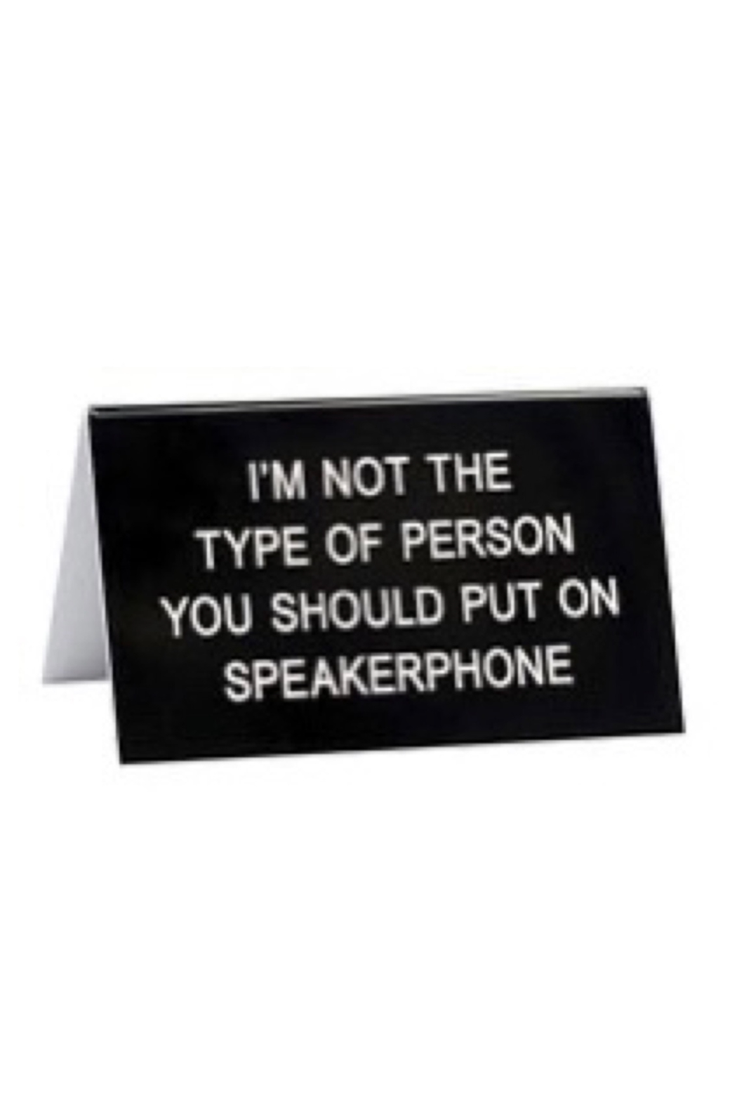 About Face Designs Speaker Phone Sign - Main Image
