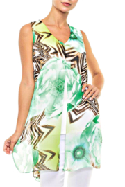 Alison Sheri Spearmint Blossom Layered Tunic - Product Mini Image