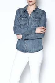 Special A Button Denim Shirt - Product Mini Image