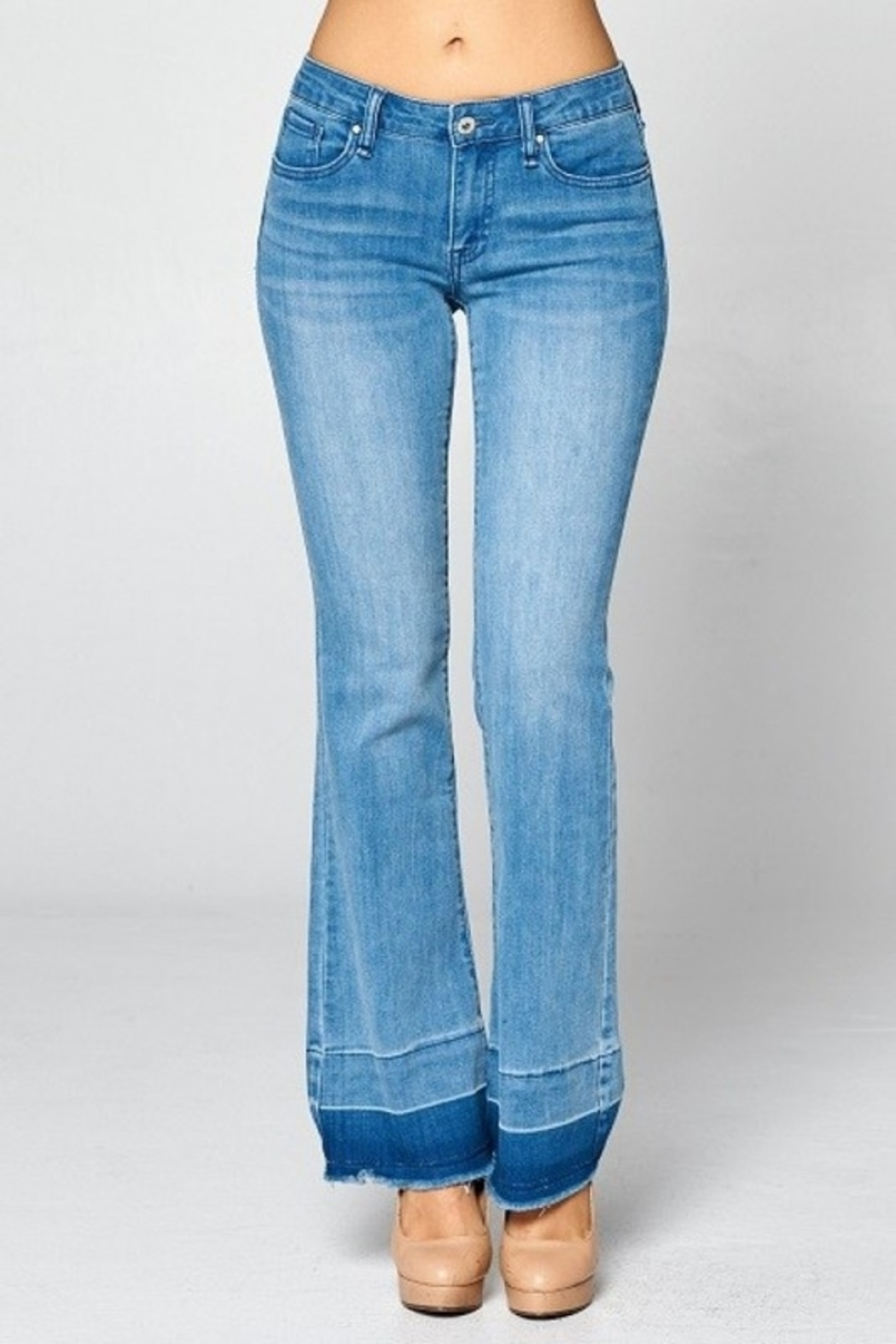 Special A Jeans Special A Contrast Bottom Hem boot cut jean - Main Image