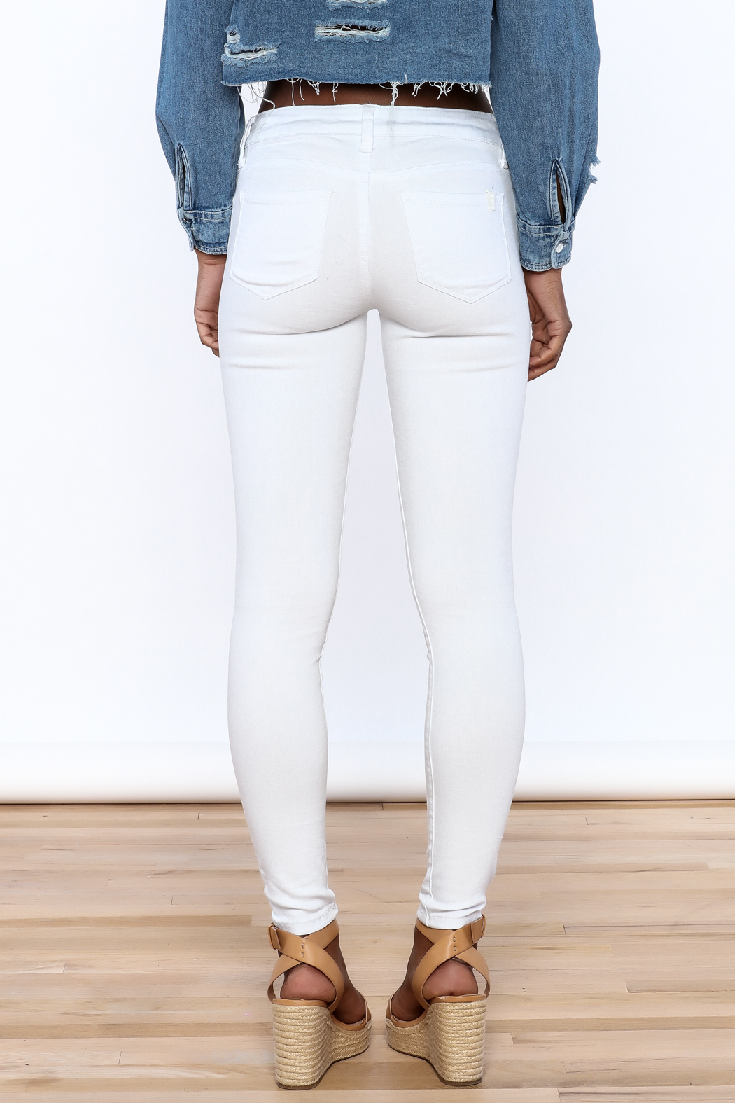 Special A White Skinny Jeans - Back Cropped Image