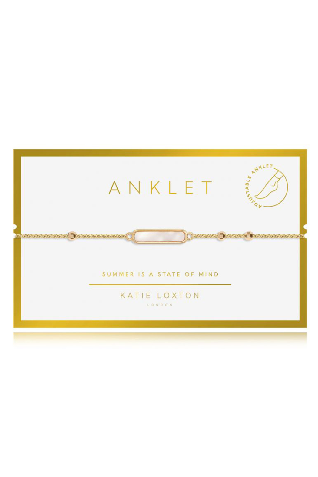 Katie Loxton Special Anklet Gold - Front Cropped Image