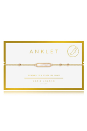 Katie Loxton Special Anklet Gold - Front cropped