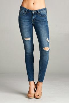 Special A Distressed Ankle Skinny Jeans - Product List Image