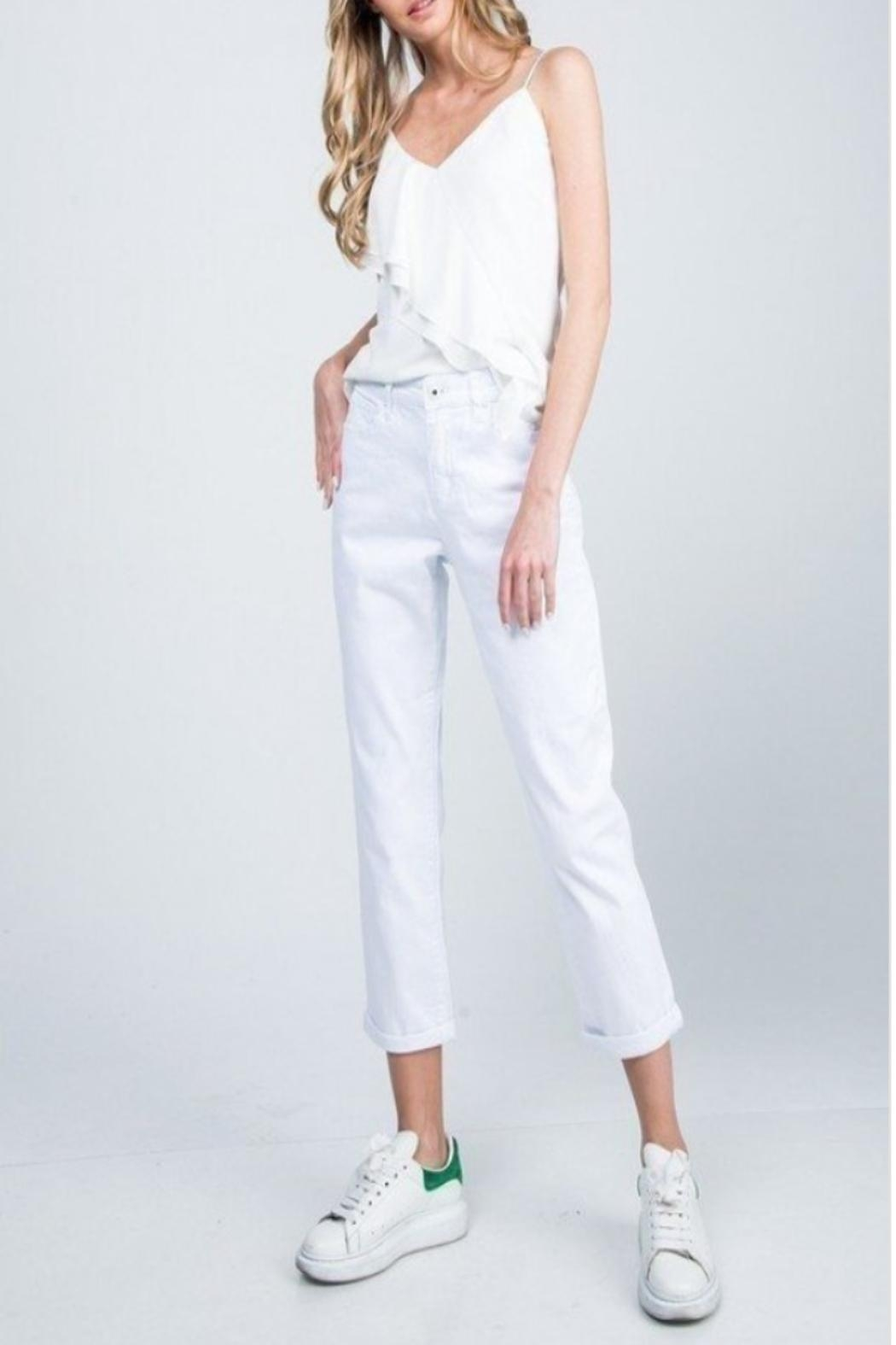 Special A High-Rise Boyfriend Jeans - Back Cropped Image