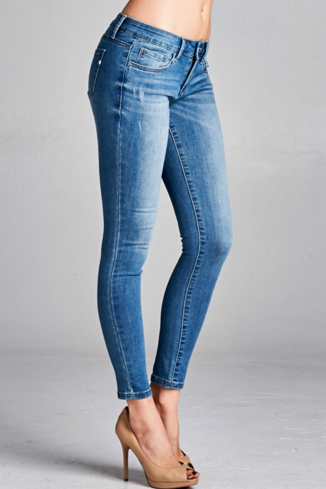 Special A Medium Wash Denim Jean - Front Cropped Image