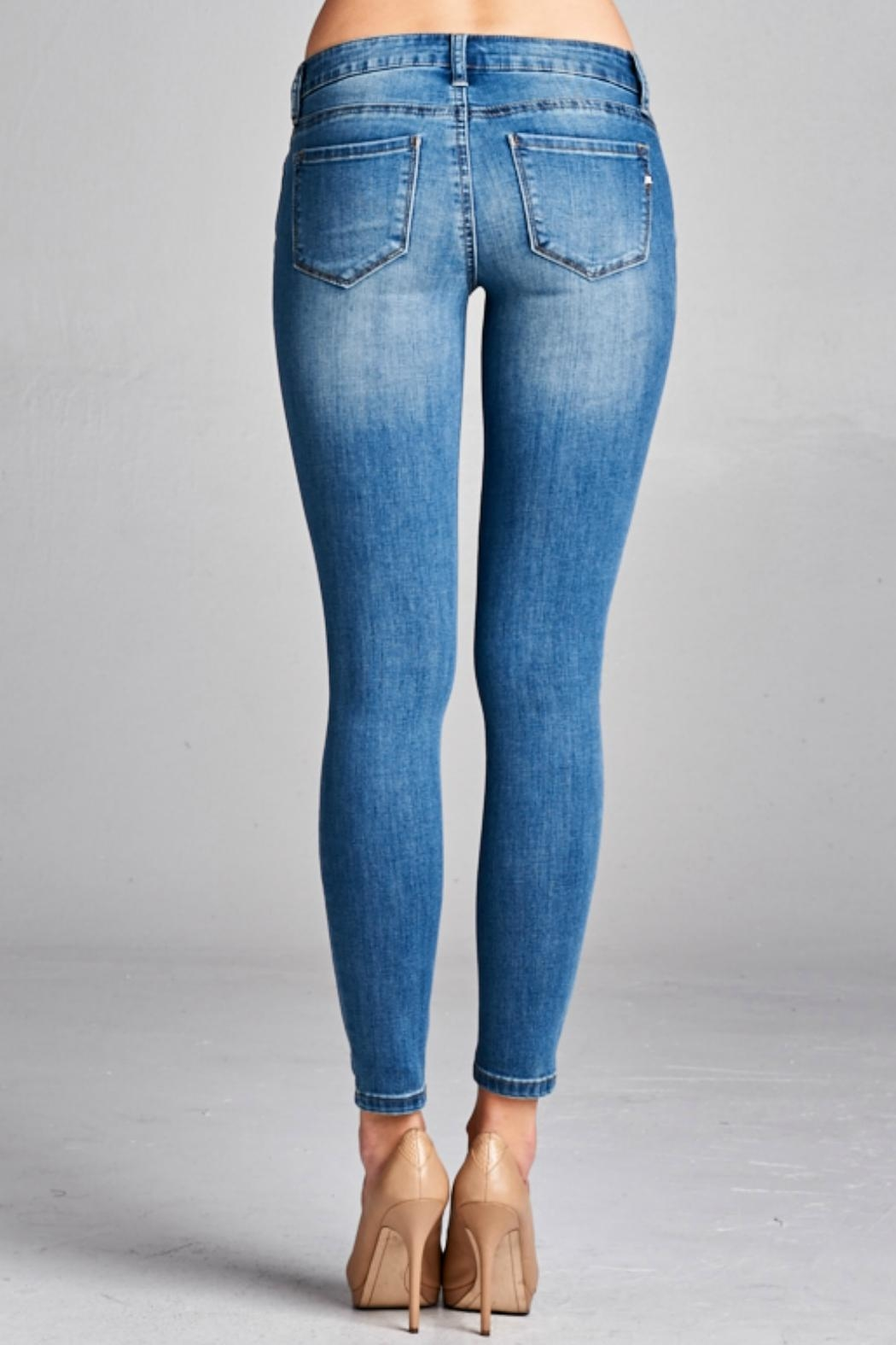 Special A Medium Wash Denim Jean - Side Cropped Image