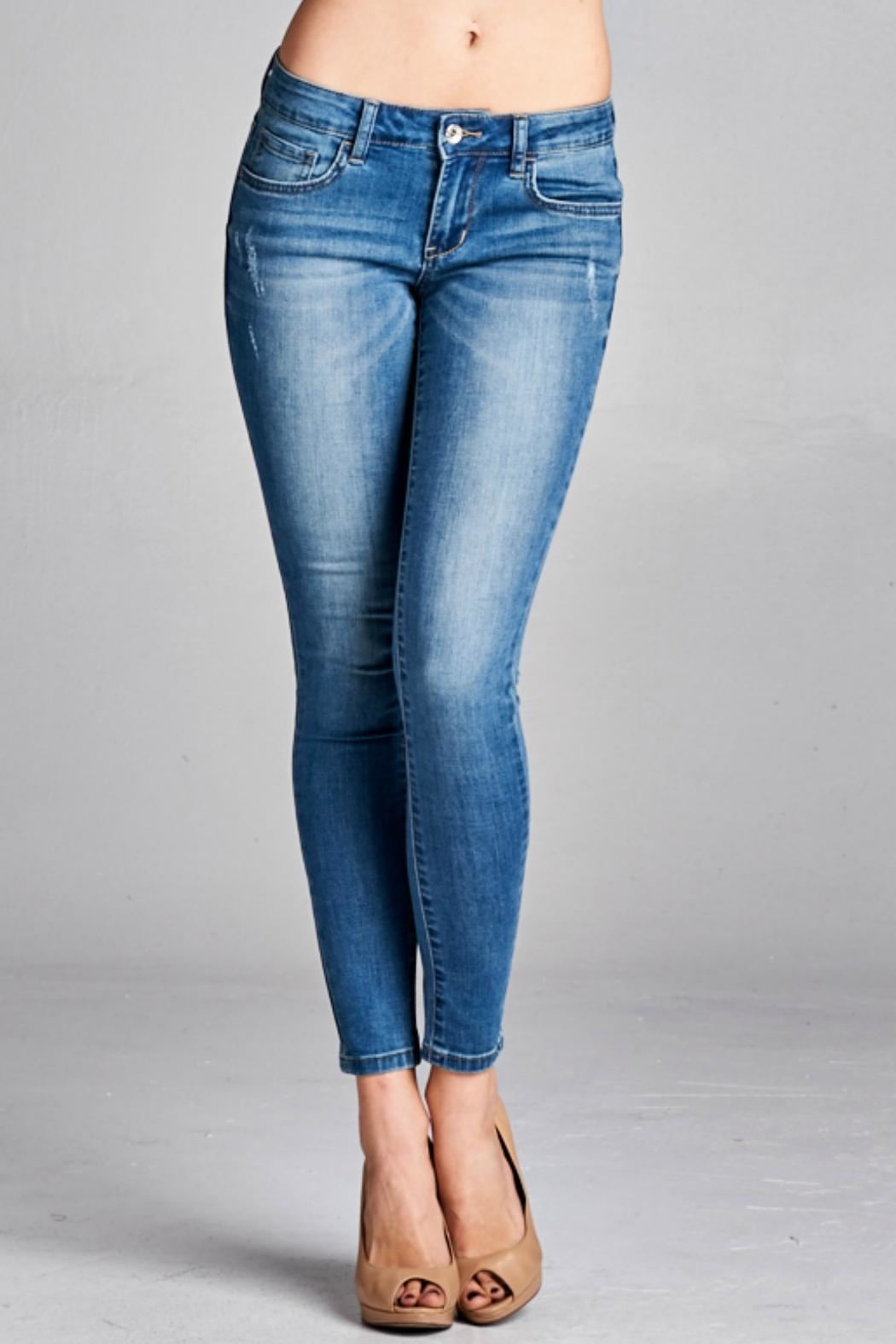 Special A Medium Wash Denim Jean - Front Full Image