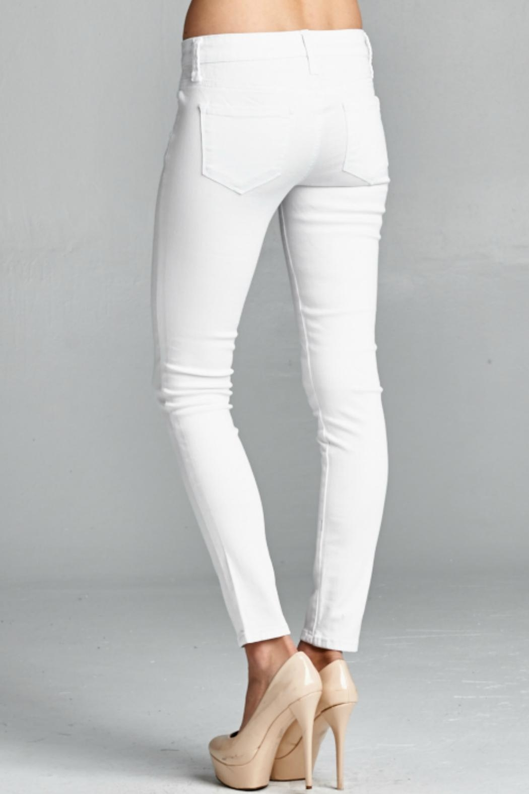 Special A White Skinny Denim Jeans - Back Cropped Image