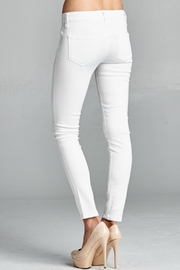 Special A White Skinny Denim Jeans - Back cropped
