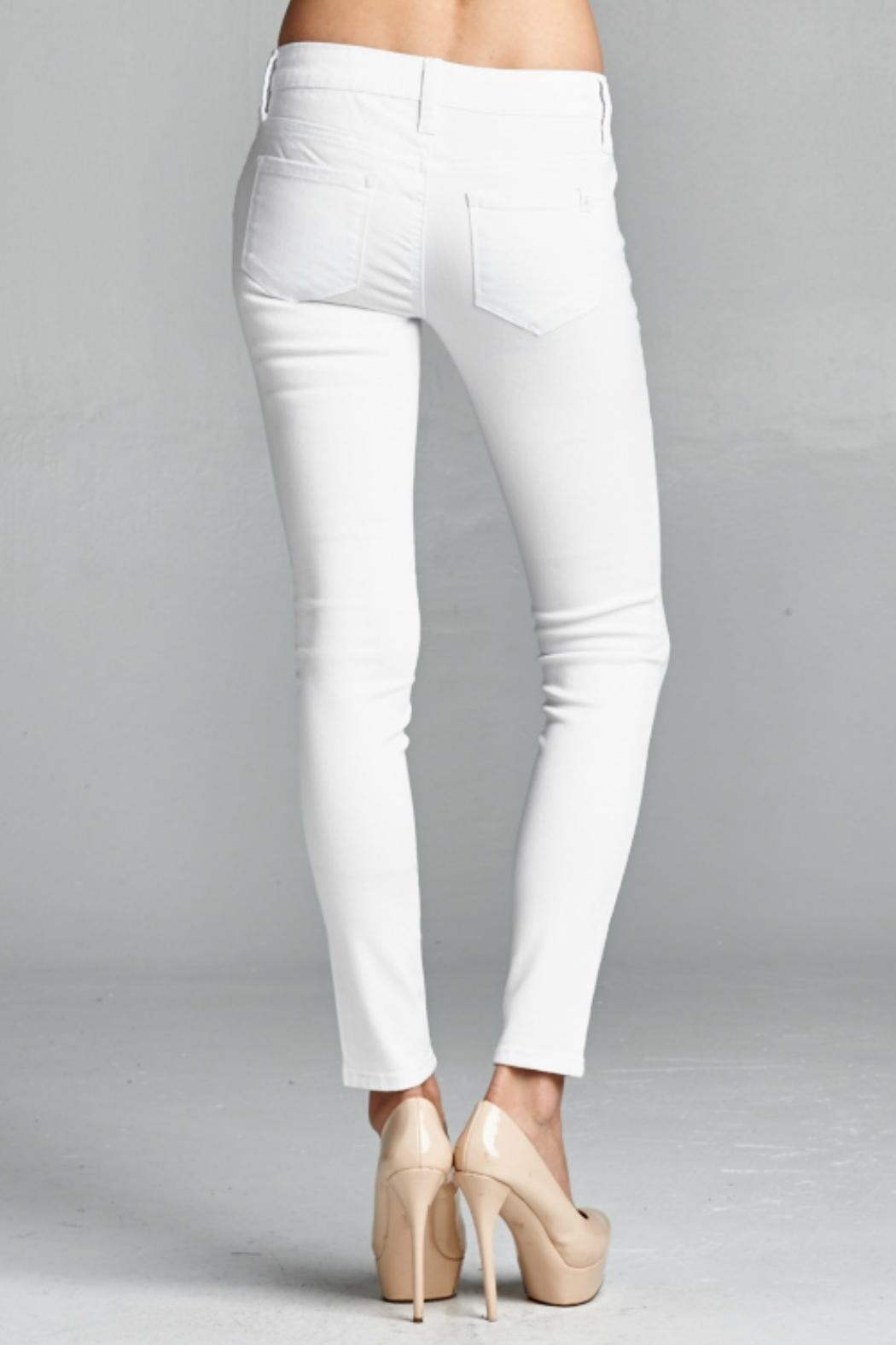 Special A White Skinny Denim Jeans - Side Cropped Image