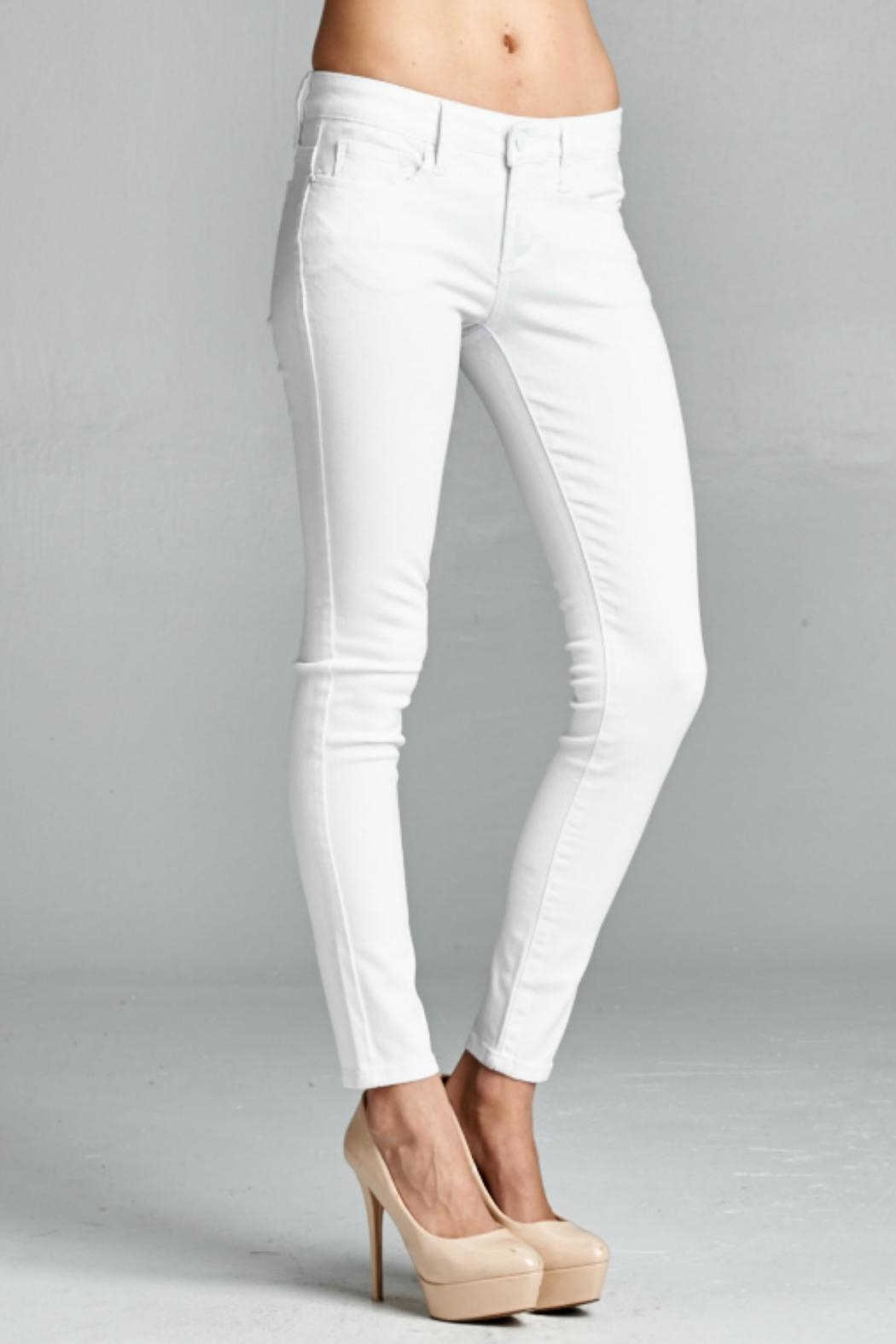 Special A White Skinny Denim Jeans - Front Full Image