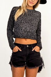 Olivaceous Speckle Cropped Sweater - Product Mini Image