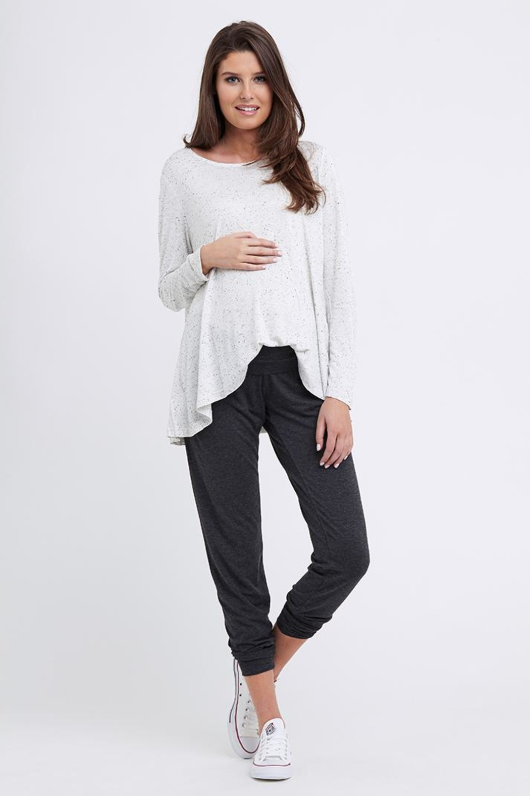 Ripe Maternity Speckle Swing Top - Front Full Image