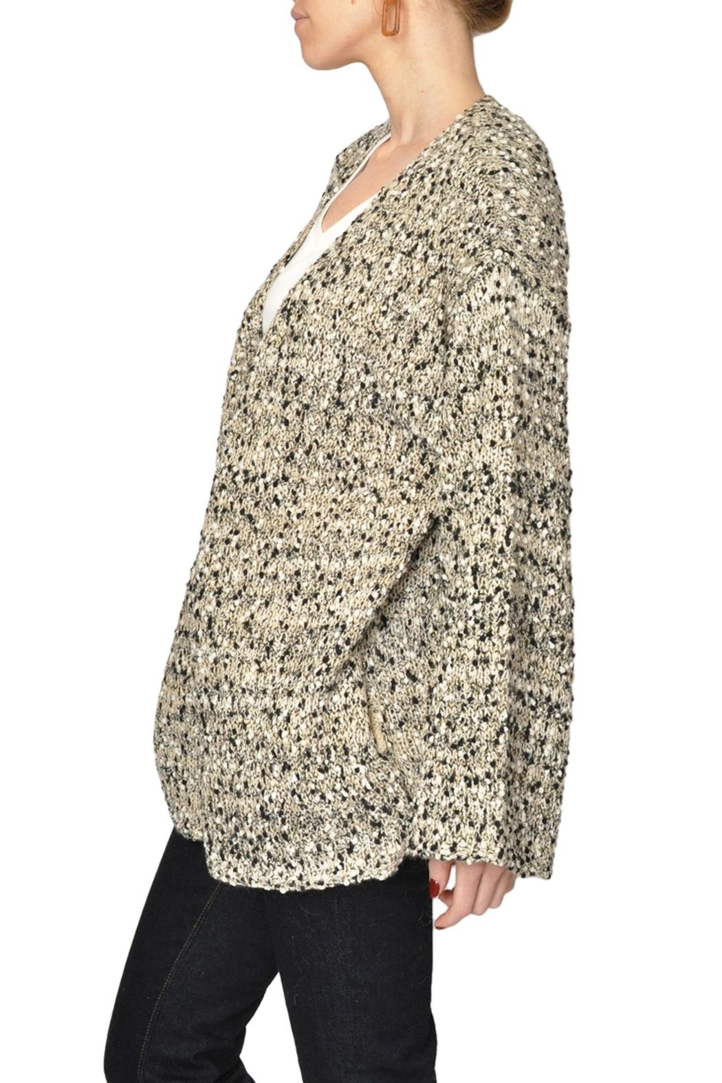 See U Soon Speckled Cardigan Sweater - Front Full Image