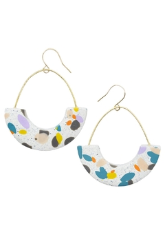 Shoptiques Product: Speckled Clay Hoops