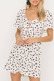 Lush Clothing  Speckled Front-Tie Mini-Dress - Product Mini Image