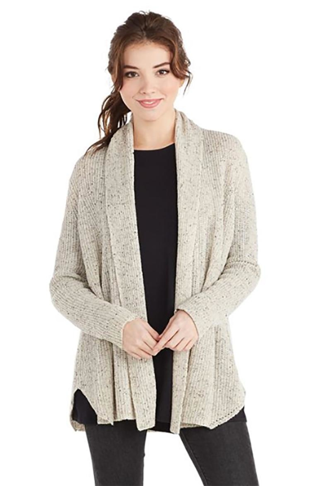 Mud Pie Speckled Knit Cardigan - Main Image